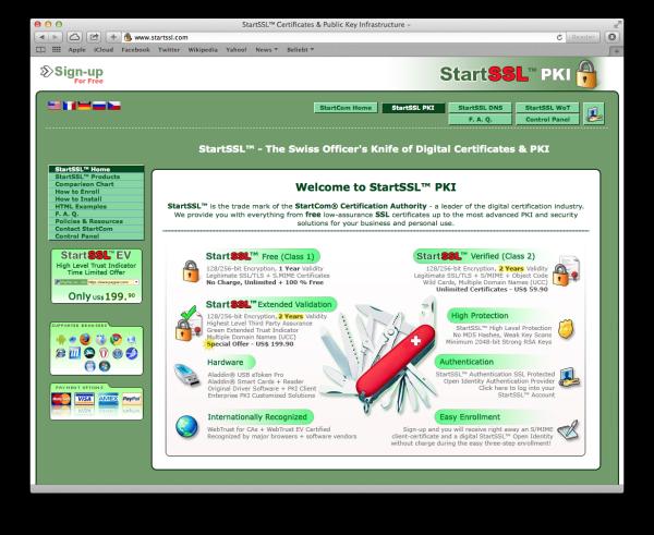Screenshot: http://www.startssl.com